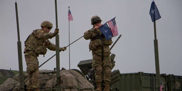 Military police are investigating after someone raised the Confederate flag at a US military base in Germany